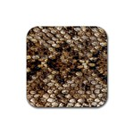 Snake Print	 Rubber Square Coaster (4 pack)