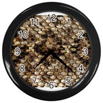 Snake Print	 Wall Clock (Black)