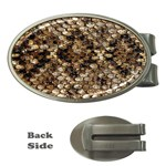 Snake Print	 Money Clip (Oval)