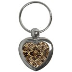 Snake Print	 Key Chain (Heart)