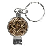 Snake Print	 Nail Clippers Key Chain