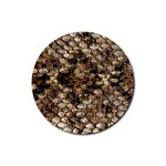 Snake Print	 Rubber Coaster (Round)