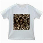 Snake Print	 Kids White T-Shirt