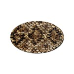 Snake Print	 Sticker Oval (10 pack)