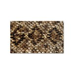 Snake Print	 Sticker Rectangular (100 pack)