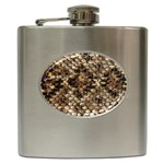 Snake Print	 Hip Flask (6 oz)