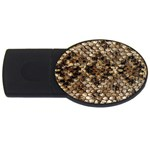 Snake Print	 USB Flash Drive Oval (2 GB)