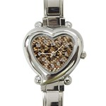 Snake Print	 Heart Italian Charm Watch