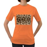 Snake Print	 Women s Dark T-Shirt