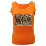 Snake Print	 Women s Dark Tank Top