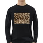 Snake Print	 Long Sleeve Dark T-Shirt