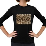 Snake Print	 Women s Long Sleeve Dark T-Shirt