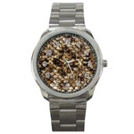 Snake Print	 Sport Metal Watch