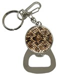 Snake Print	 Bottle Opener Key Chain