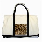 Snake Print	 Two Tone Tote Bag