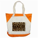 Snake Print	 Accent Tote Bag