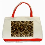 Snake Print	 Classic Tote Bag (Red)