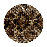 Snake Print	 Round Ornament (Two Sides)
