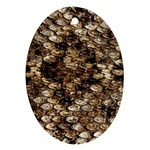 Snake Print	 Oval Ornament (Two Sides)