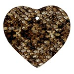 Snake Print	 Heart Ornament (Two Sides)