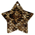 Snake Print	 Star Ornament (Two Sides)