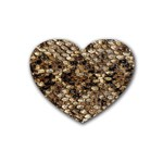 Snake Print	 Rubber Coaster (Heart)