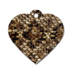 Snake Print	 Dog Tag Heart (One Side)