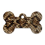 Snake Print	 Dog Tag Bone (One Side)
