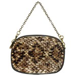 Snake Print	 Chain Purse (Two Sides)
