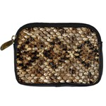 Snake Print	 Digital Camera Leather Case