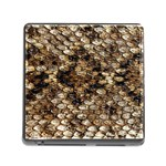 Snake Print	 Memory Card Reader with Storage (Square)