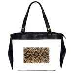 Snake Print	 Oversize Office Handbag (Two Sides)
