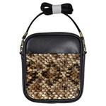 Snake Print	 Girls Sling Bag