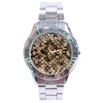 Snake Print	 Stainless Steel Analogue Men's Watch