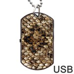 Snake Print	Dog Tag USB Flash (One Side)