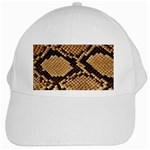 Snake Print Big	 White Cap