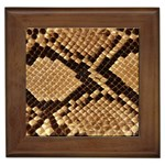 Snake Print Big	 Framed Tile