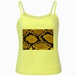 Snake Print Big	 Yellow Spaghetti Tank