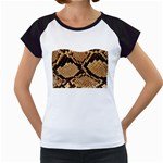 Snake Print Big	 Women s Cap Sleeve T