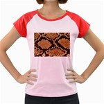 Snake Print Big	 Women s Cap Sleeve T-Shirt