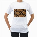 Snake Print Big	 Women s T-Shirt