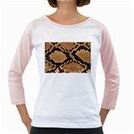 Snake Print Big	 Girly Raglan