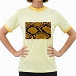 Snake Print Big	 Women s Fitted Ringer T-Shirt