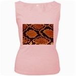 Snake Print Big	 Women s Pink Tank Top