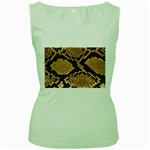 Snake Print Big	 Women s Green Tank Top