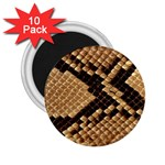 Snake Print Big	 2.25  Magnet (10 pack)