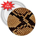 Snake Print Big	 3  Button (10 pack)