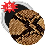 Snake Print Big	 3  Magnet (10 pack)