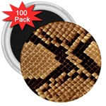 Snake Print Big	 3  Magnet (100 pack)