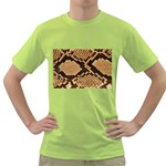 Snake Print Big	 Green T-Shirt